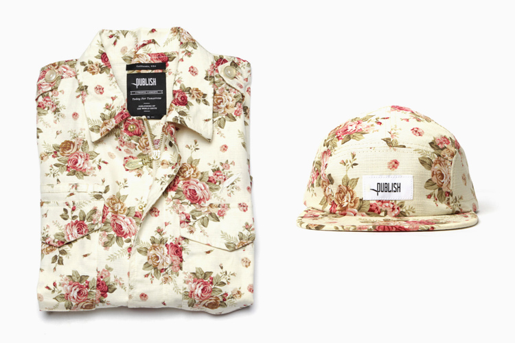 Publish Brand Floral Hat & Shirt